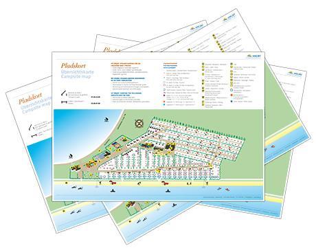 Pladskort - Platzkarte - Campsitemap